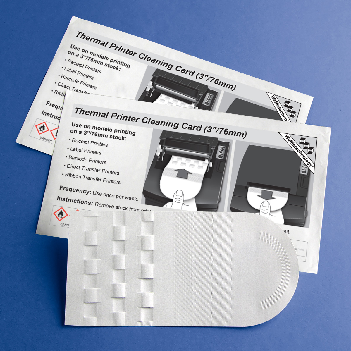 Thermal Printer Cleaning Card mit Waffletechnology ® (3 / 76mm)