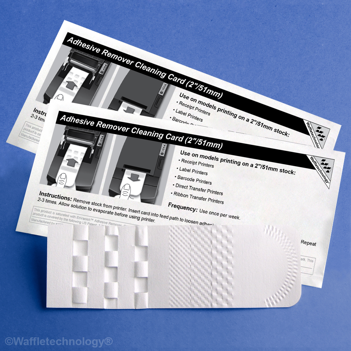 Adhesive Remover Cleaning Card featuring Waffletechnology® (2in/51mm)