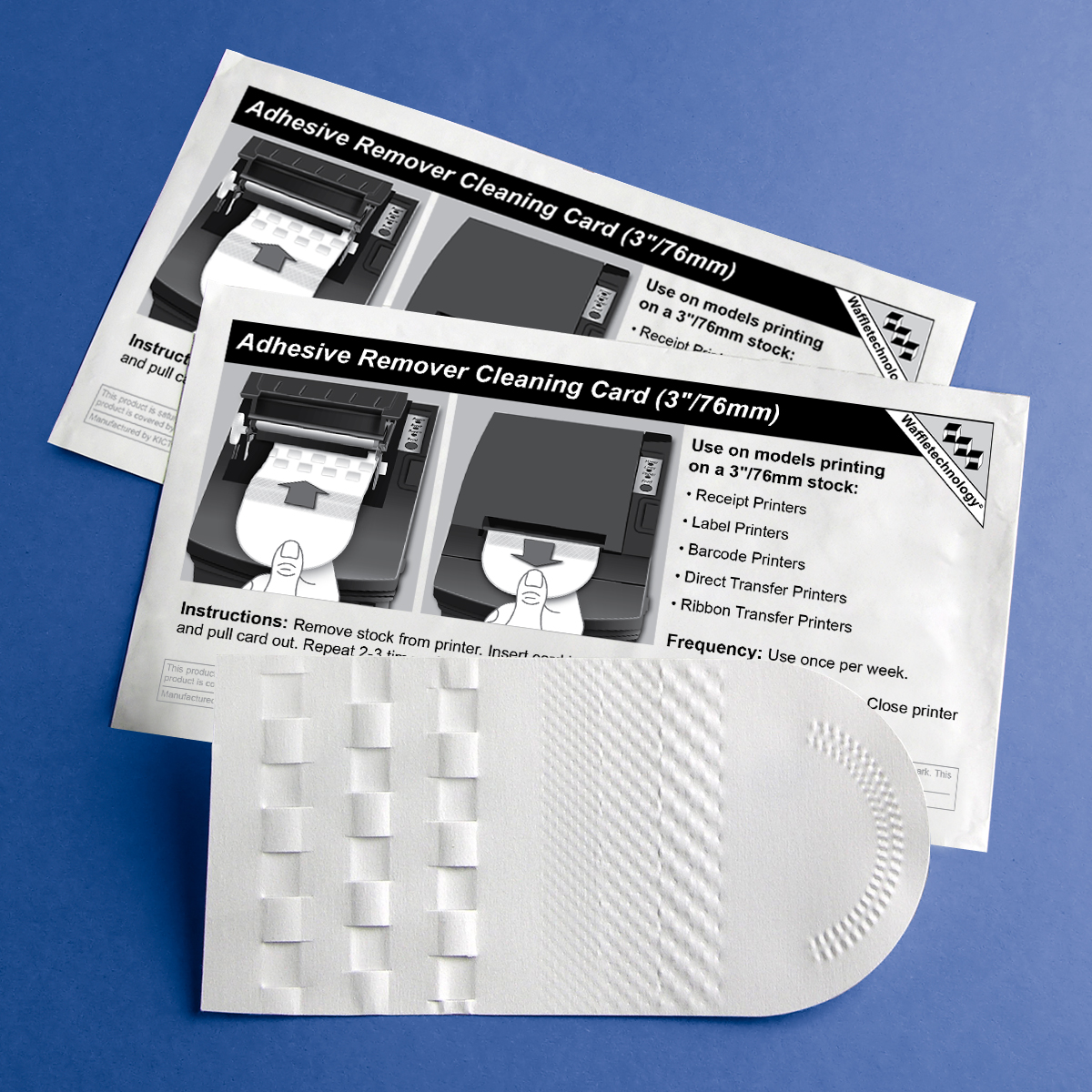 Adhesive Remover Cleaning Card featuring Waffletechnology® (3in/76mm)