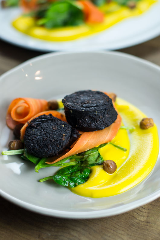Black Pudding, Hazelnut, Butternut Squash Puree-2