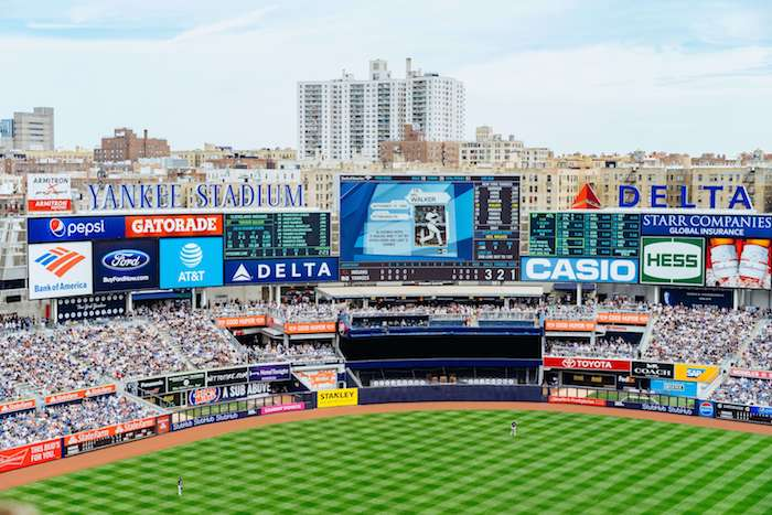 The rise of traditional sponsorship is most evident at Yankee Stadium