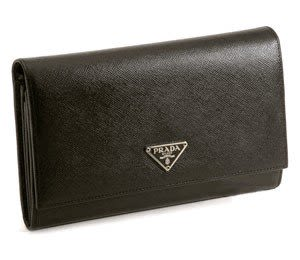 Prada m808a Saffino Long Continental Wallet