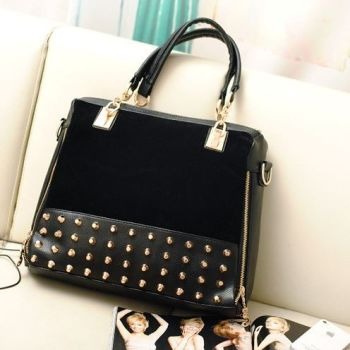 Studded Face Handbag with Side Slit-Pocket8