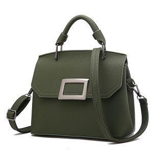 Green McBeal Top-Handle Flap Satchel