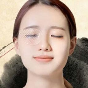 Wearing Pretail Eye Mask Close-Up