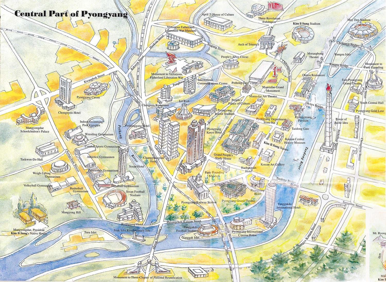 Pyongyang central korea konsult · pyongyang maps