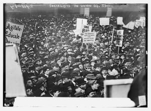 Socialists in Union Square May 1912