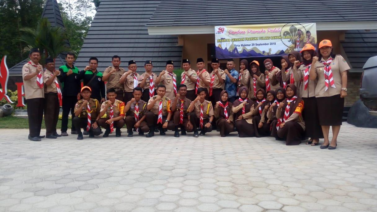 Kwarda Lampung Lakukan Pembinaan Pramuka Peduli Ke Kwarcab Tulang Bawang Barat