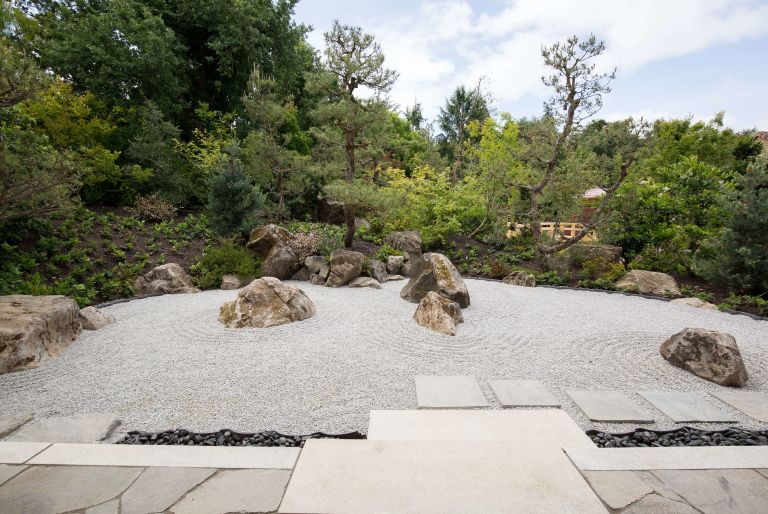 rock garden at Los Altos residence