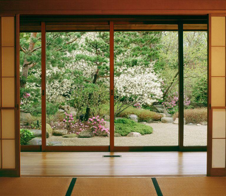 doorway view of Anderson Gardens