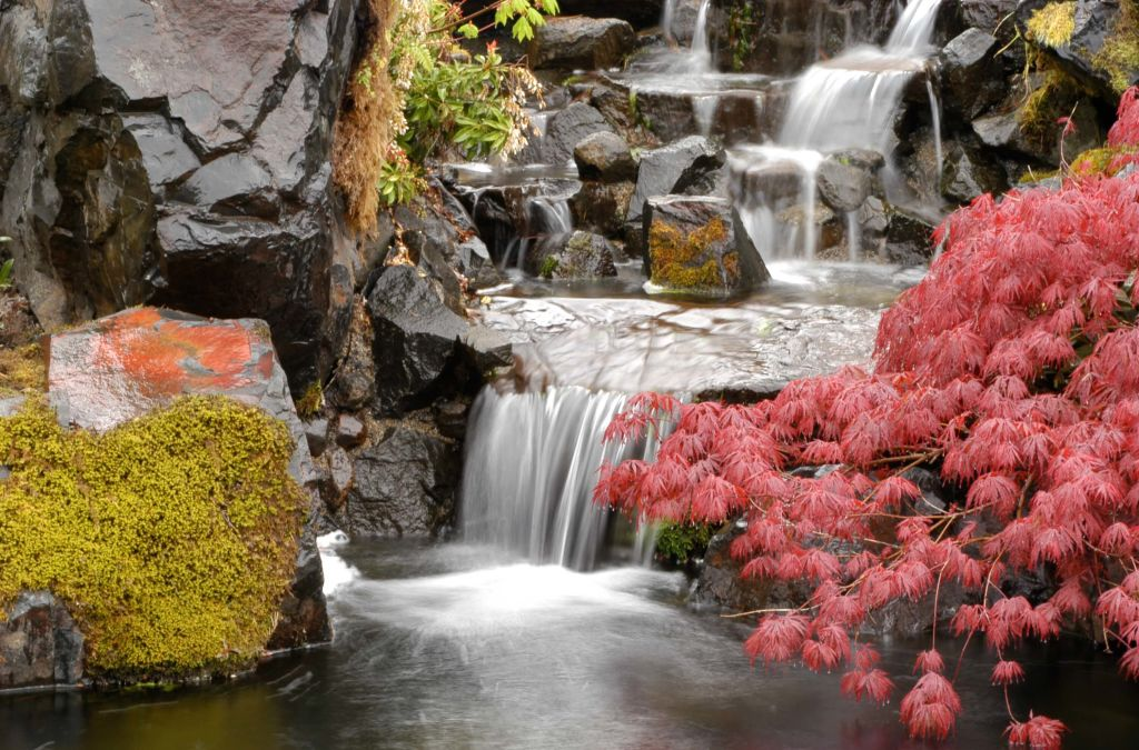 garden waterfall at Samaritan Lebanon Community Hospital
