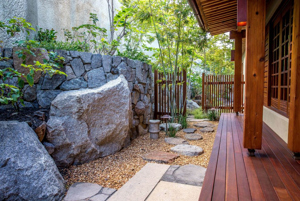 path and porch at British Virgin Island residence