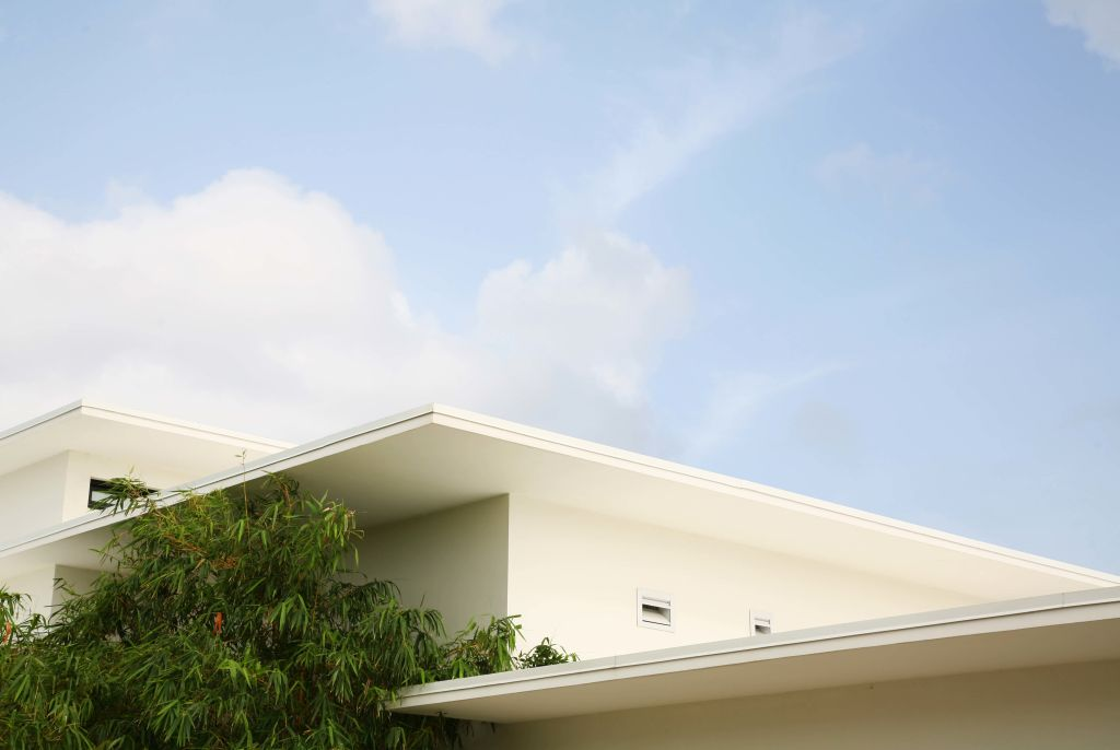 roof and sky at Grand Cayman residence