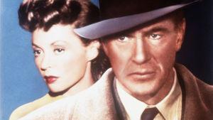 Lilli palmer on Gina ja Gary Cooper on Prof. Alvah Jesper elokuvassa Viitta ja tikari.