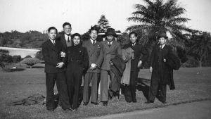 Arthur Gar-Lock Chang (toinen vasemmalta) ja muita kiinalaissyntyisiä australialaisia, 1930-luku