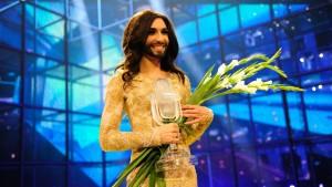 Österrikes Conchita Wurst vinner Eurovisionen.