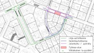 Karta över vägarbeten i Borgå