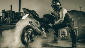 """""""Nicke"""" och hans motorcykel"""