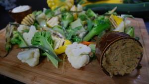 Grönsaker med kallrökt barbequesmör.