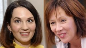 Samlingspartiets Sanni Grahn-Laasonen och Socialdemokraternas Sirpa Paatero
