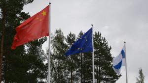 Kinas flagga vajade vid Snellman Ab