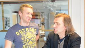 Janne Isaksson och Mats Lundberg i Sportpanelen