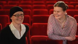 Johanna Grönqvist och Silja Sahlgren-Fodstad i Filmfredag / Radio Vega.