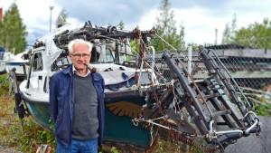 Fred Granberg och båten Jalmari