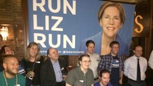 Supportermöte för Elizabeth Warren