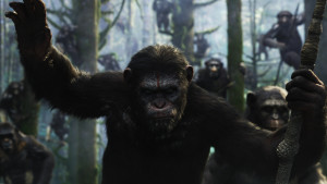 Caesar leder aparmén i Dawn of the Planet of the Apes.