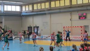 Handbollsmatch mellan Sjundeå IF och BK-46.