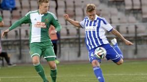 Mika Väyrynen gjorde segermålet mot Rapid i Helsingfors.