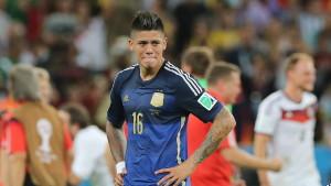 Marcos Rojo spelade för Argentina i VM i fotboll 2014