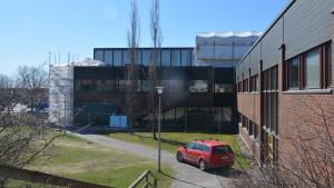 Ombyggnad vid kommungården i Ingå.