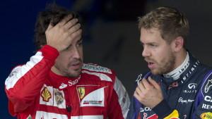 Fernando Alonso och Sebastian Vettel, november 2013