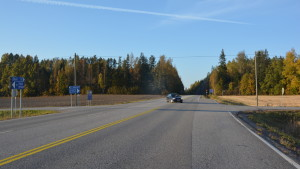 Korsningen Salovägen-Gråströmsvägen i Svartå, Raseborg.