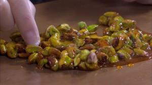 Karamelliserade pistagenötter