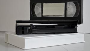 VHS-kassetter.