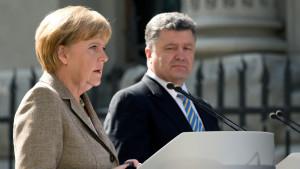 Angela Merkel träffar Petro Porosjenko