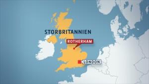Karta över Storbritannien (Rotherham)