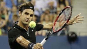Roger Federer i US Open i tennis 2014.