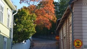 Gamla stan i höstens färggranna färger