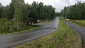 Trollbölevägen i Ekenäs. Här planeras en rondell.