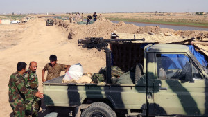 Kurdiska peshmergakrigare nära Kirkuk.