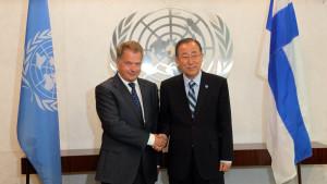 President Niinistö träffade FN:s generalsekreterare i New York.