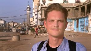 Viktor Heikel i Gaza.
