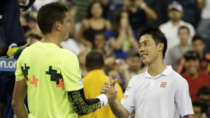 Kei Nishikori besegrar Milos Raonic i US Open 2014