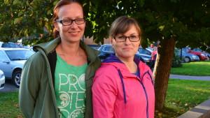 Minna Saranpää och Hanna Vilkuna vill ha hjälp att börja löpa