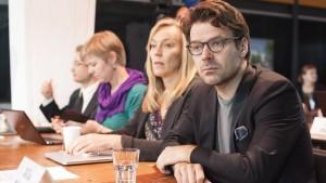 De grönas ordförande Ville Niinistö under partiets fullmäktigemöte.