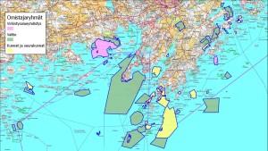 karta över det som kan bli Porkala nationalpark